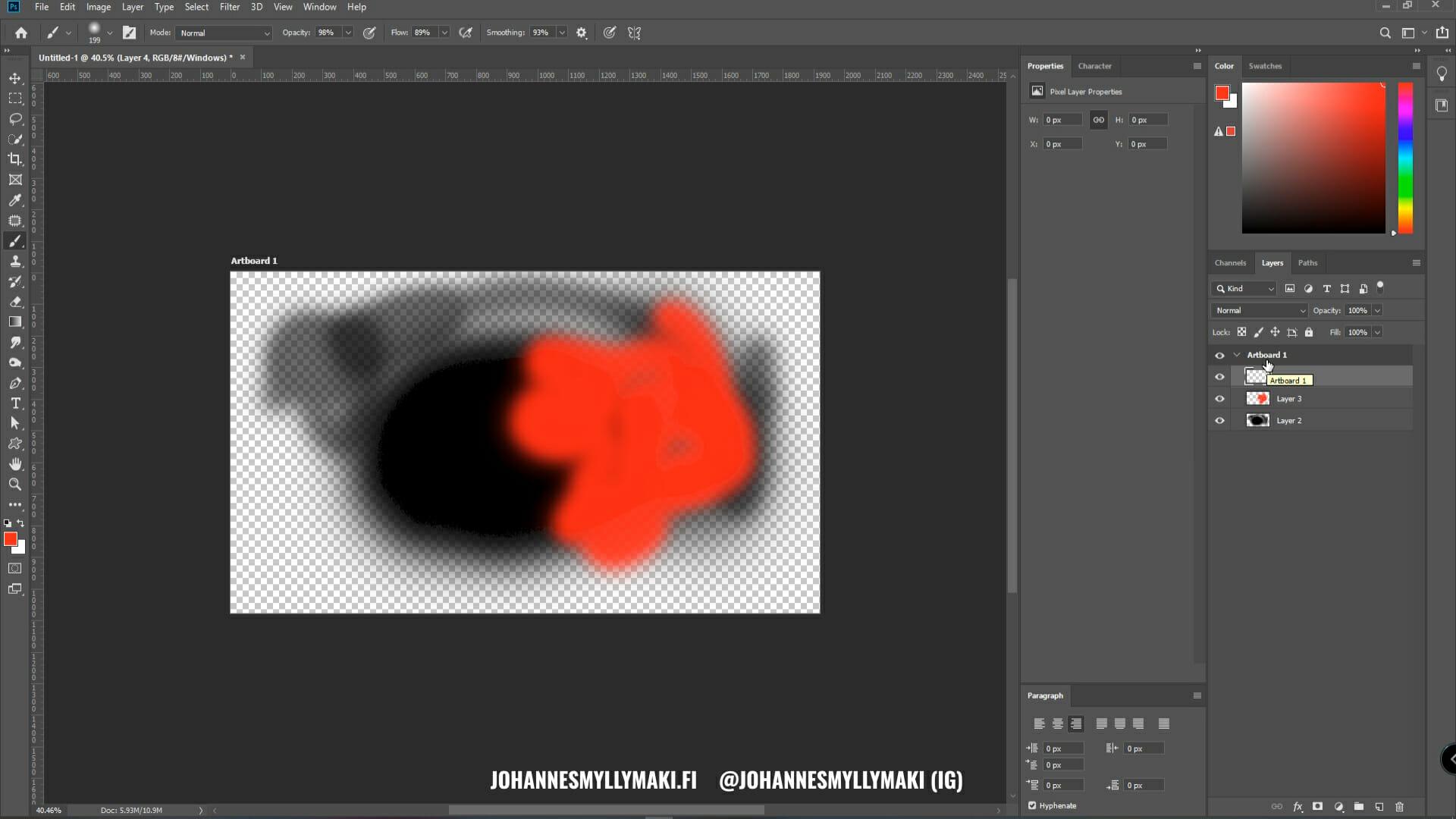 Kuvankäsittelyohjelma Adobe Photoshop tasot, ominaisuudet