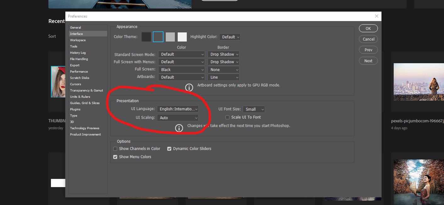 Adobe Photoshop kielen vaihtaminen