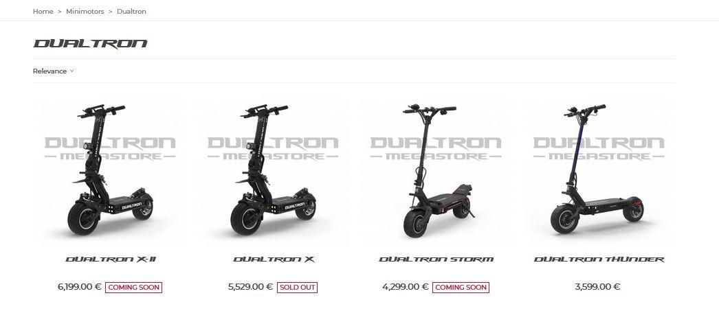 Dualtron minimotors - sähköpotulaudan ostaminen euroopasta