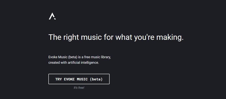 Evoke music -luo teköälyn avulla musiikkia