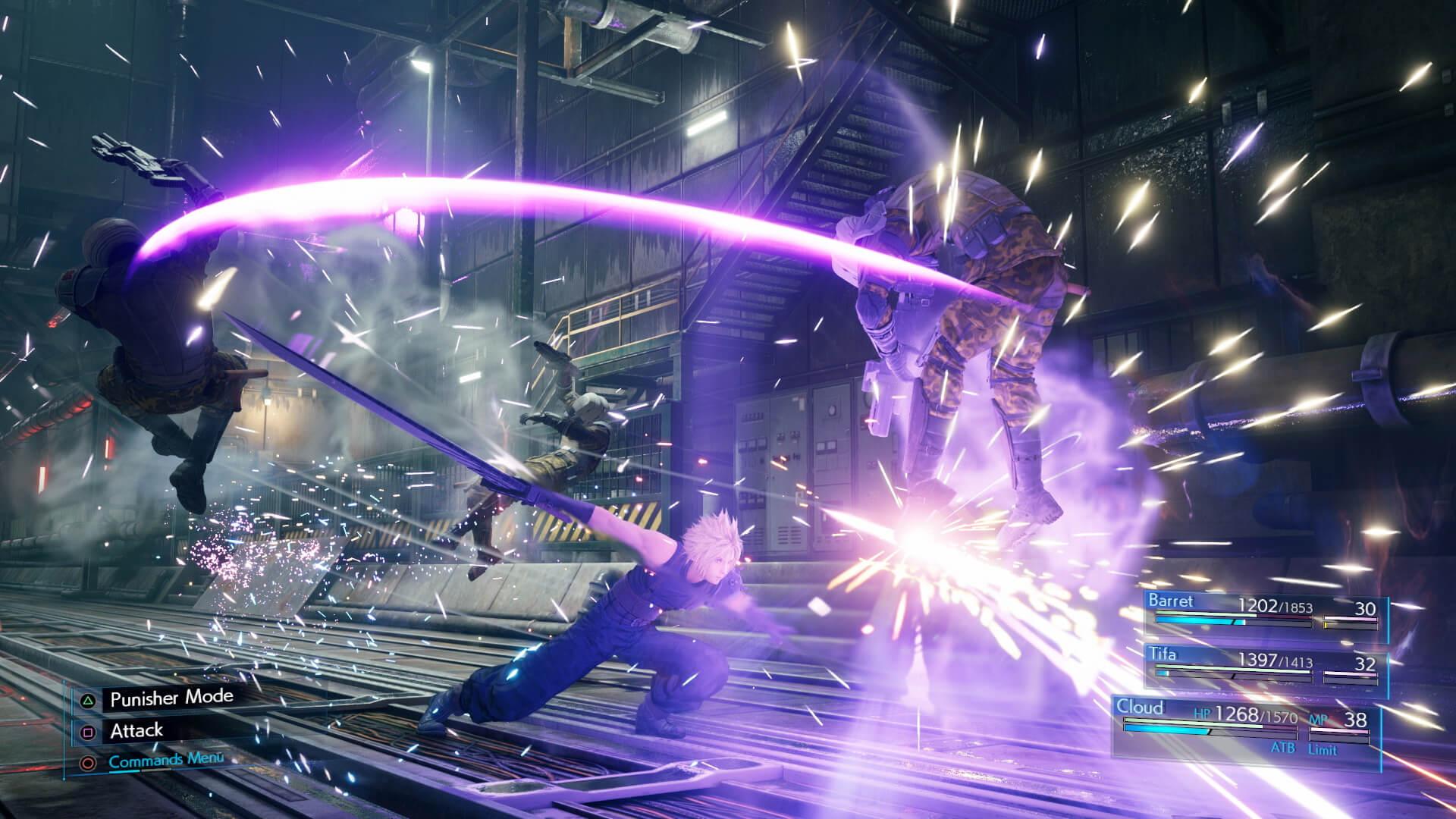 Final Fantasy 7 Remake taistelu