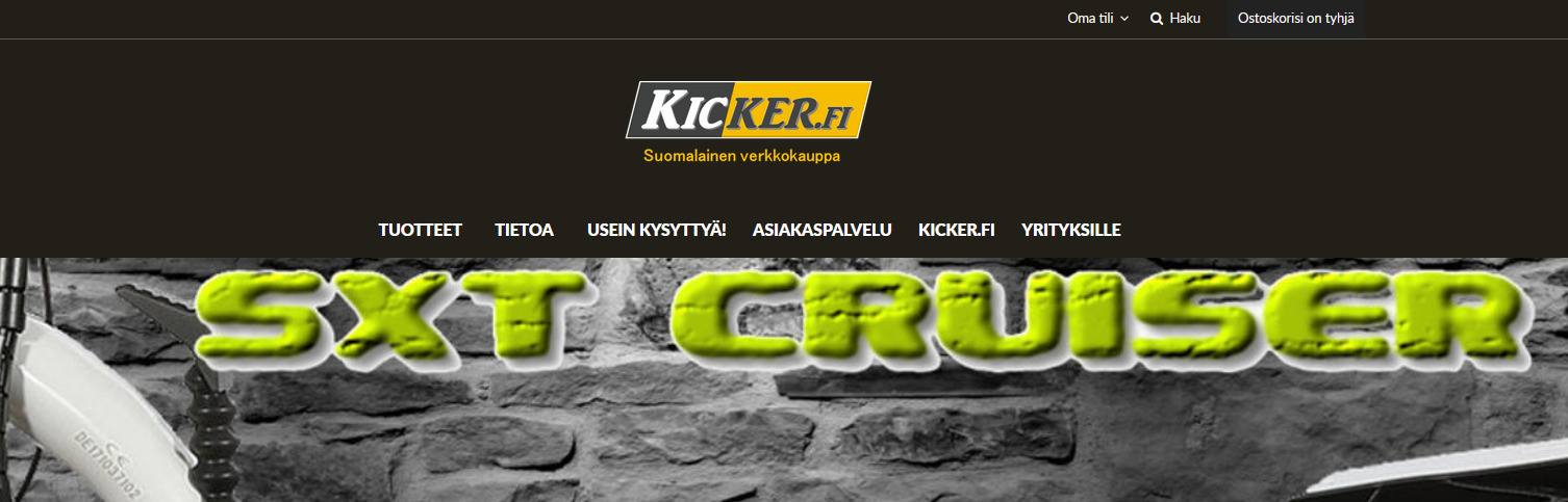 kicker.fi - sähköpotkulaudat edullisesti