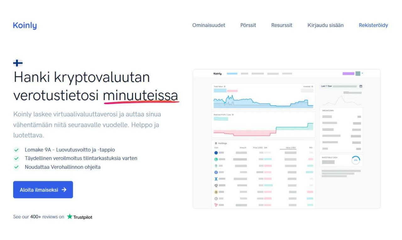 kryptovaluutta verotus automaattisesti - koinly.io