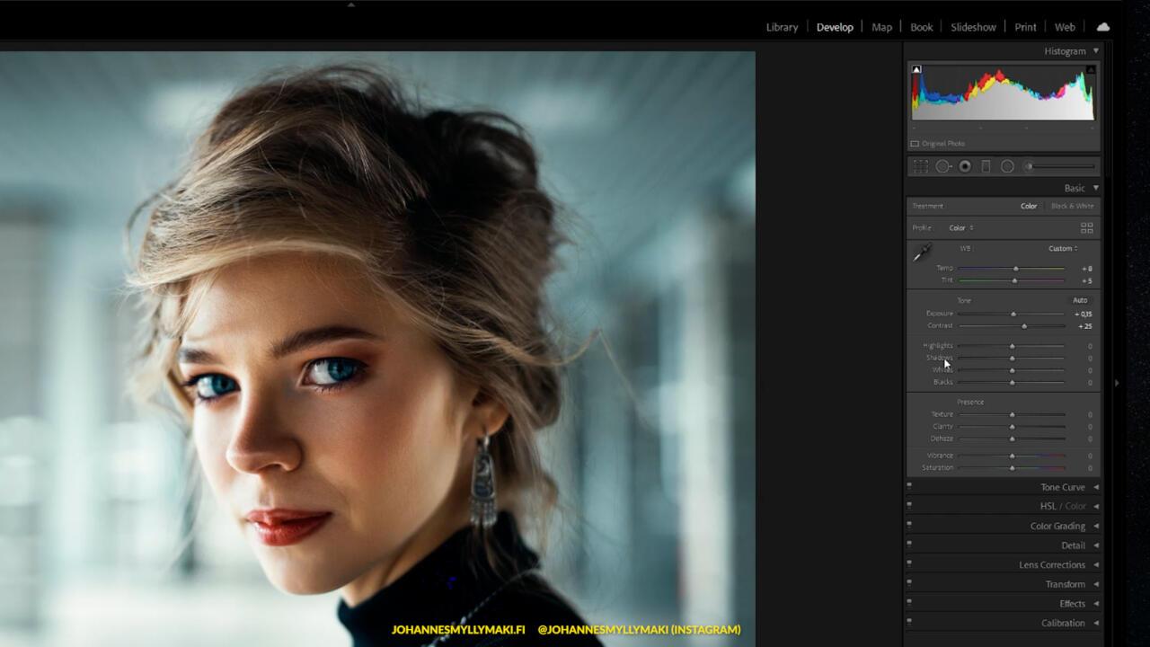 lightroom classic perusteet käyttö kuvan valkotasapaino ja asetukset