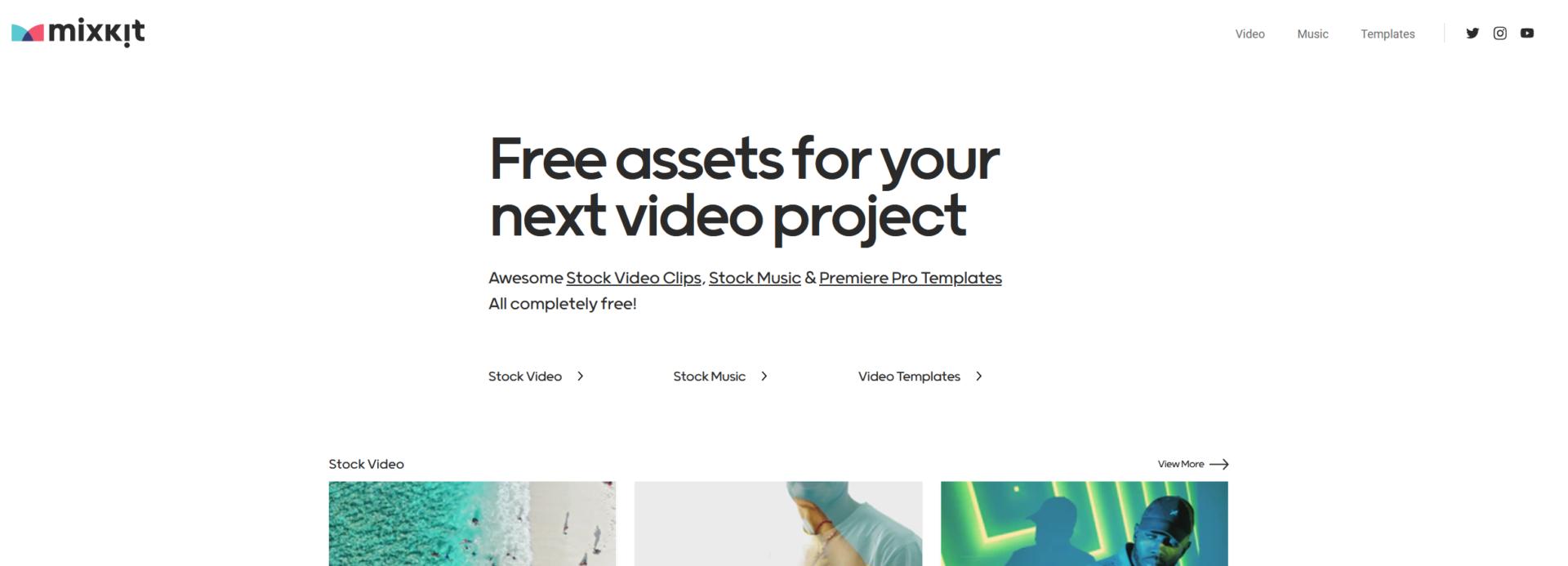 MixKit - ilmaista musiikkia, videoita ja videotemplaatteja
