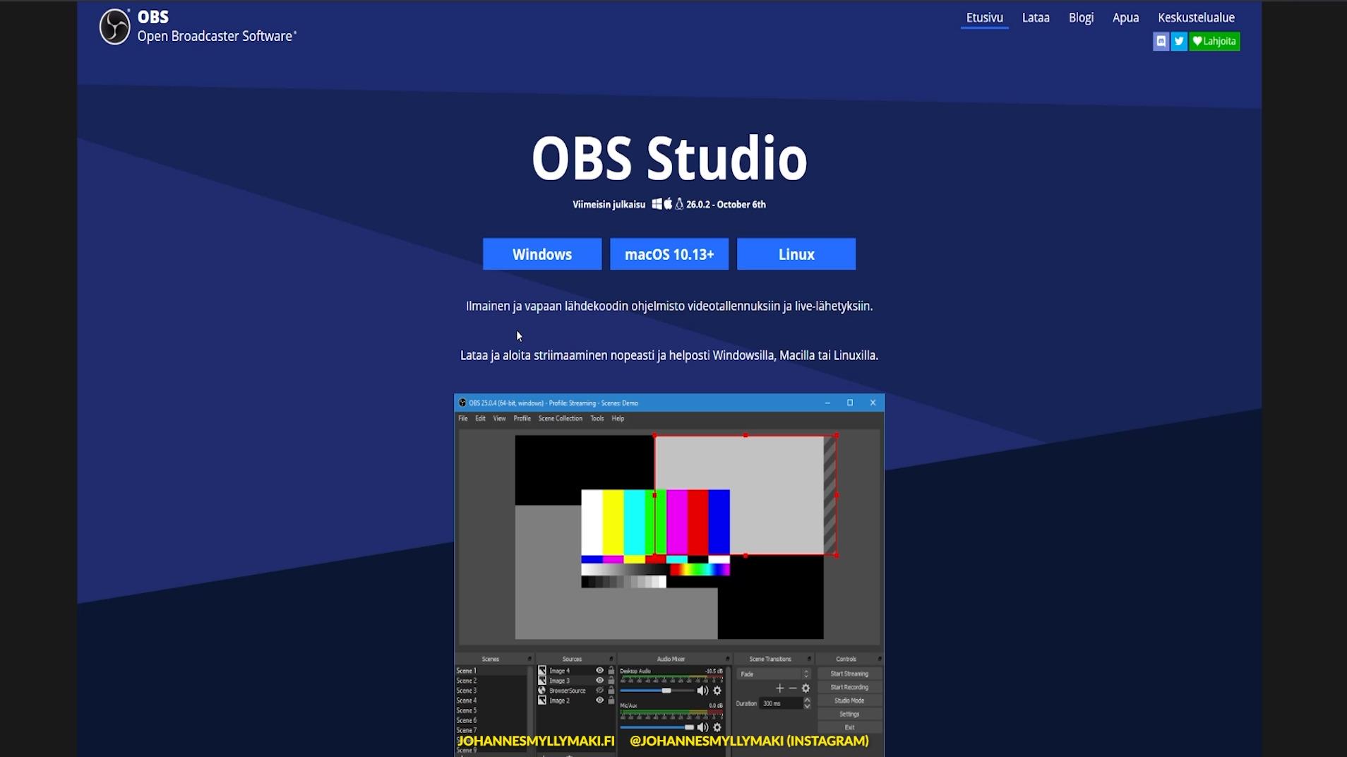 OBS Studio lataaminen