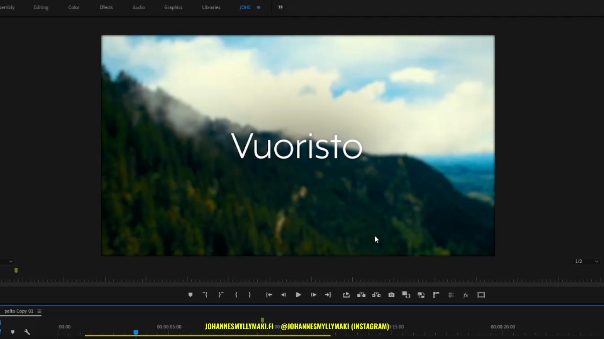 Adobe Premiere Pro taustan epäterävöitys