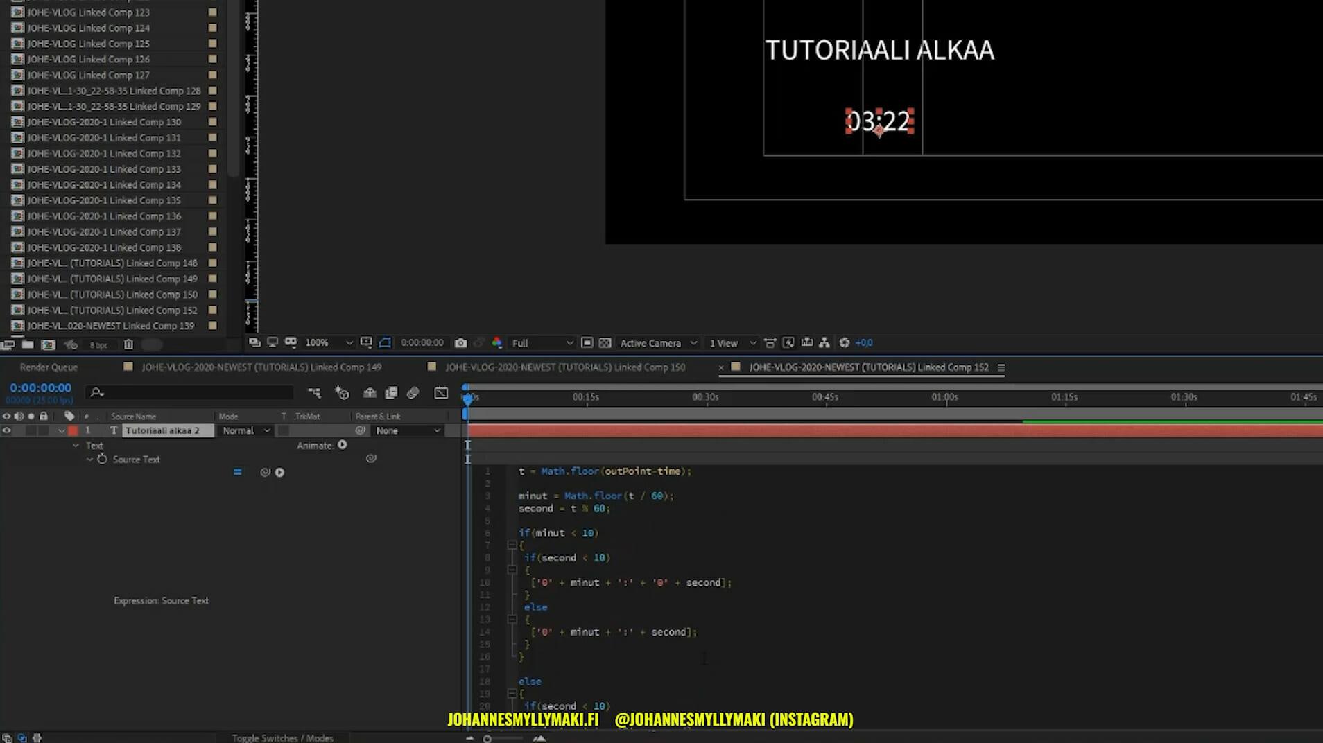 Javascript kodaaminen After Effectsissä