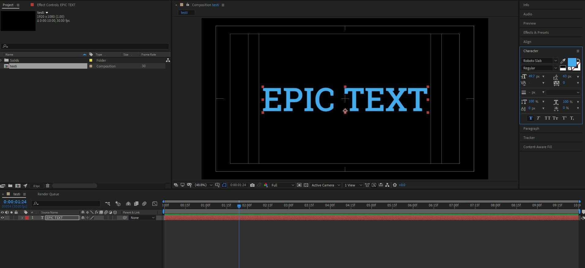 teksti-työkalun-käyttäminen-after-effects-perusteet