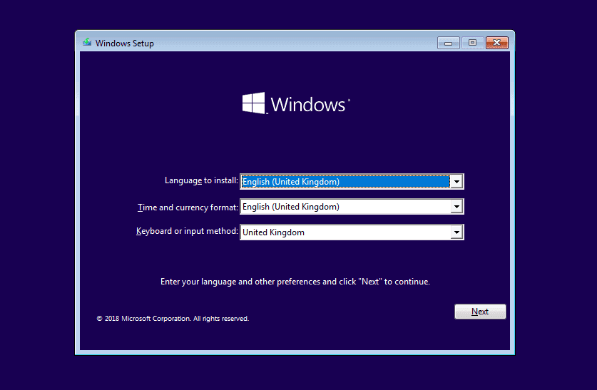 Windows 10 asentaminen